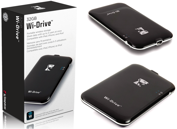Disque Dur Wi-Fi Kingston Wi-Drive