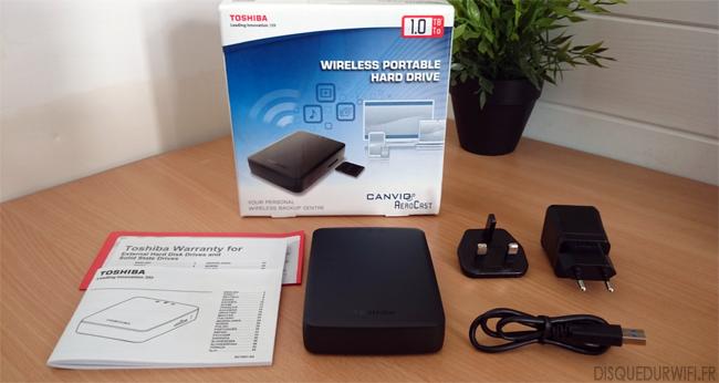 Disque Sur WiFi Toshiba Canvio AeroCast