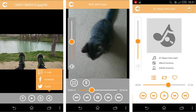 Lecture fichiers depuis l'app mobile